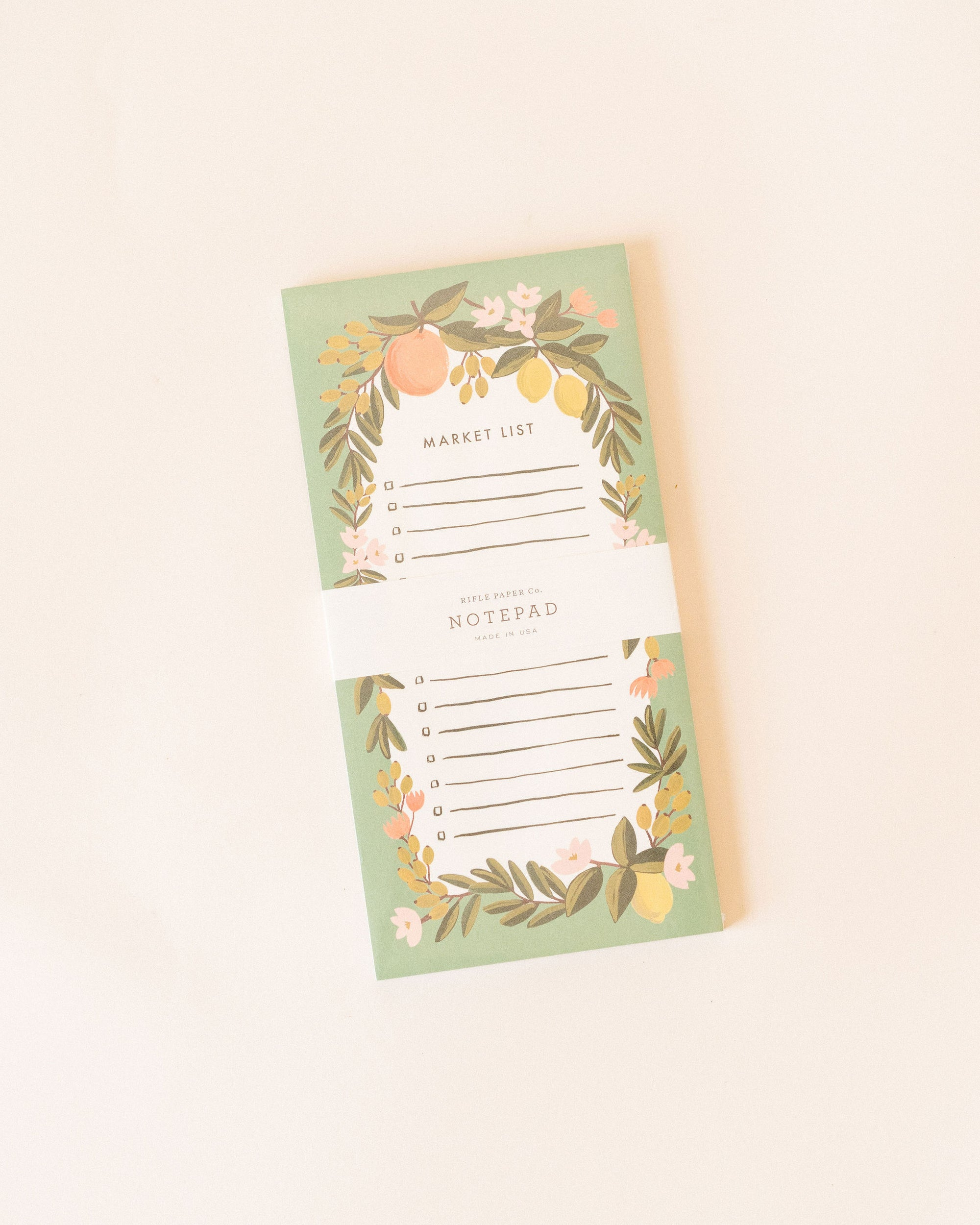 Citrus Floral Shopping Pad