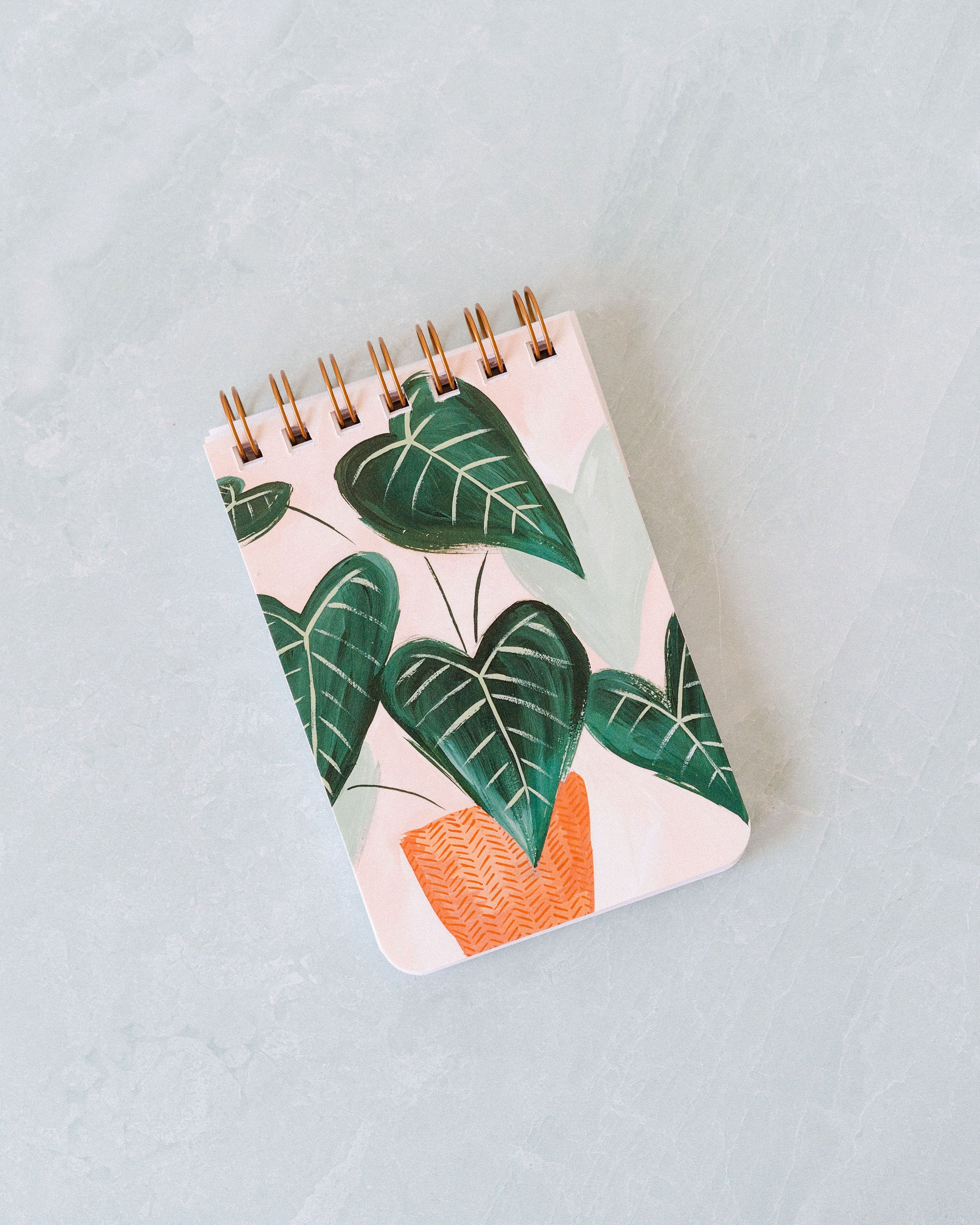Small Green Leaf Spiral Notebook