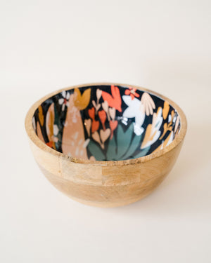 Superbloom Mango Wood Serving Bowl