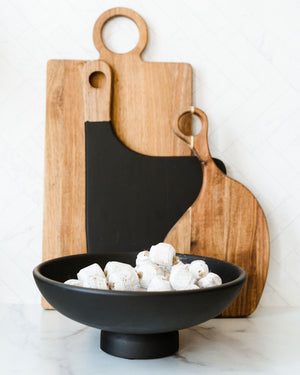 Matte Black Cutting Board w/ Handle
