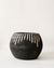 Black Design Wood Pot