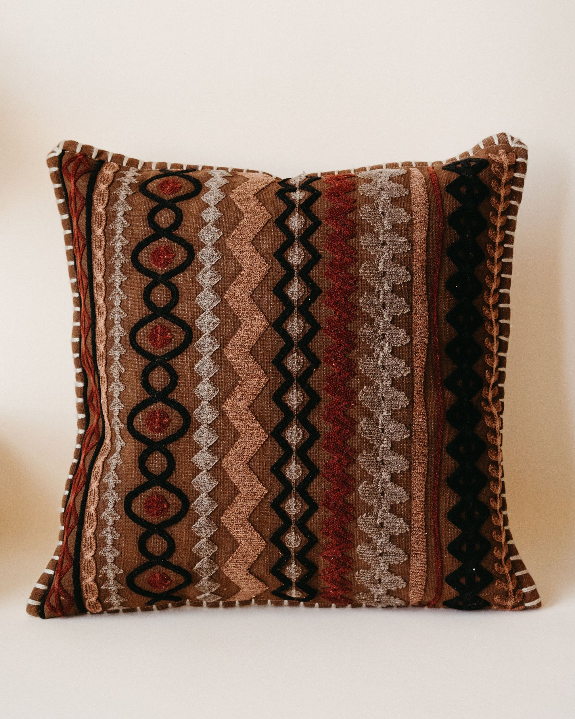 Multi-Color Square embroidered Pillow