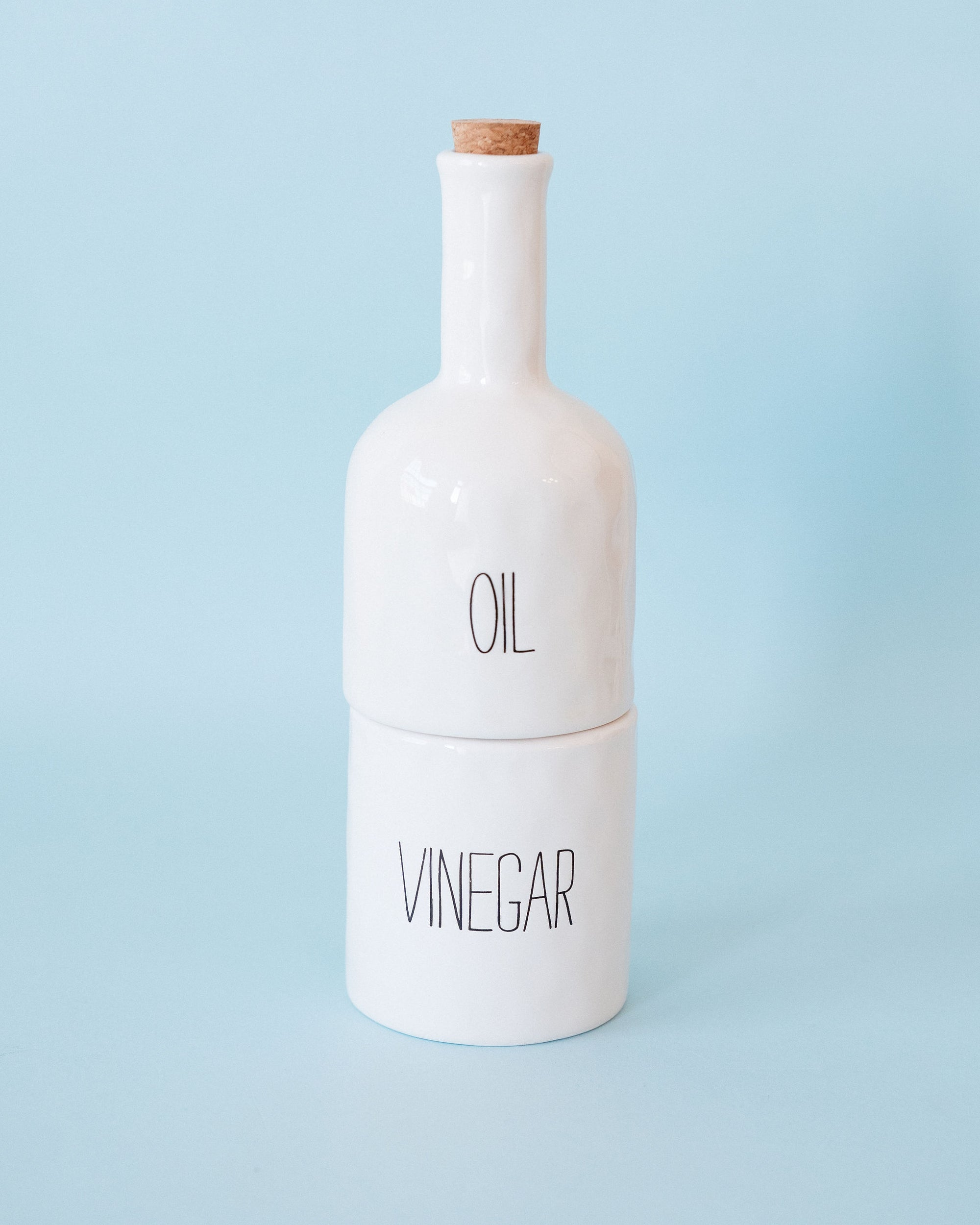 Stacked Oil and Vinegar Set
