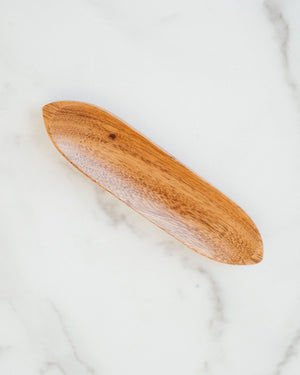 Acacia Wood Boat Shaped Bowl