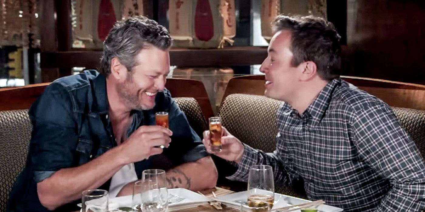 Blake Shelton Tries Sushi for the First Time. See How He Likes It.