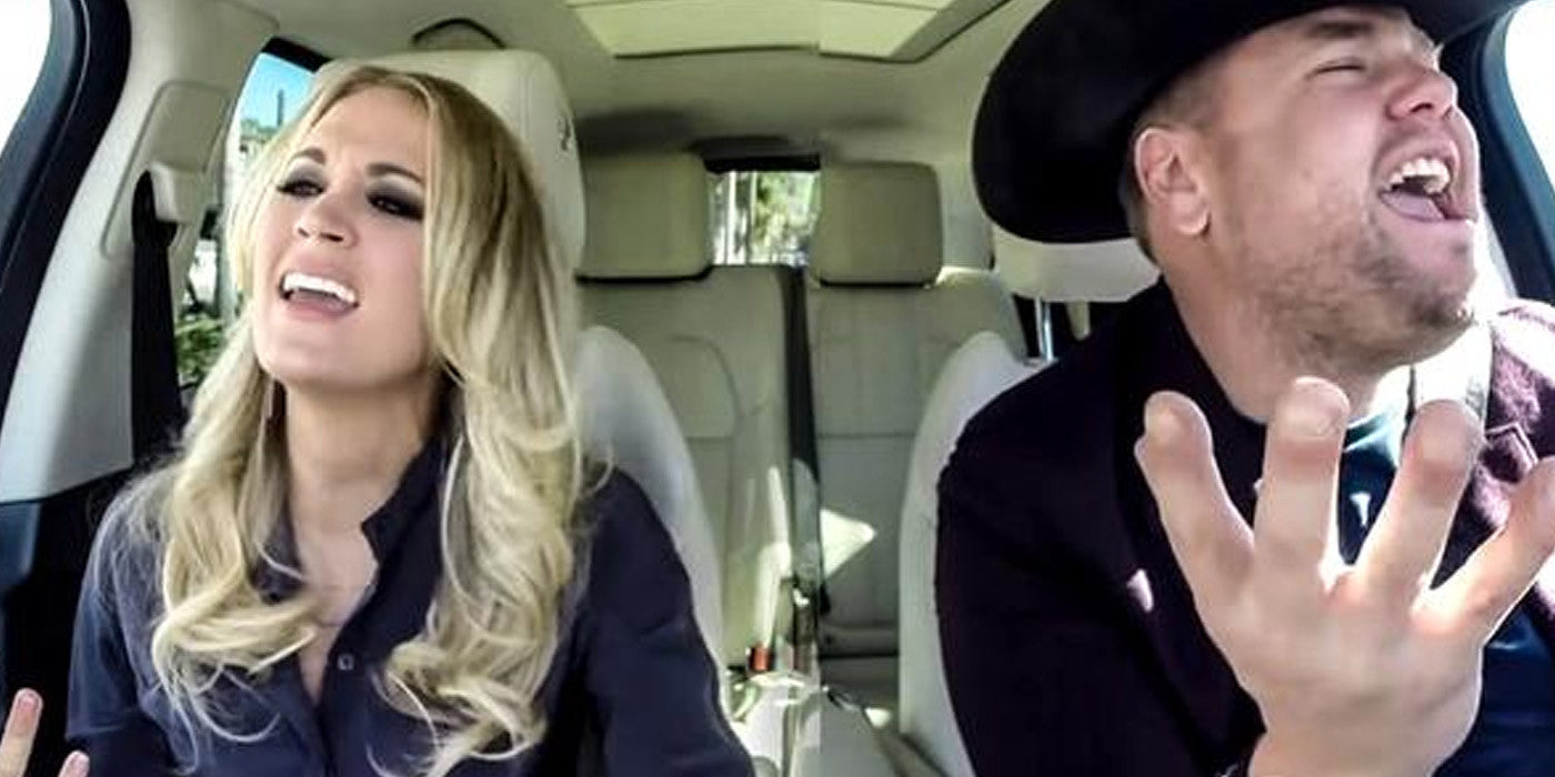Carpool Karaoke with Carrie Underwood Shows Off Her Raw Talent!