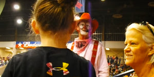 Will This Cute 9-Year-Old Girl Let a Playful Rodeo Clown Get the Best of Her?