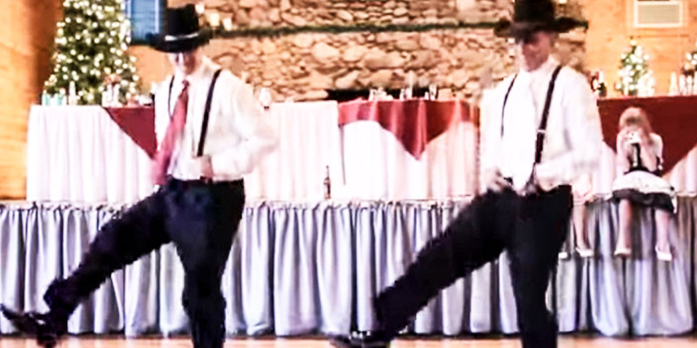 A Groom and His Best Man Slay the Dance Floor with This 8 Seconds-Inspired Wedding Dance