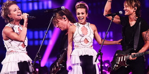 "Sparks Fly Onstage as Keith Urban and Carrie Underwood Perform ""The Fighter"" at the CMT Awards"