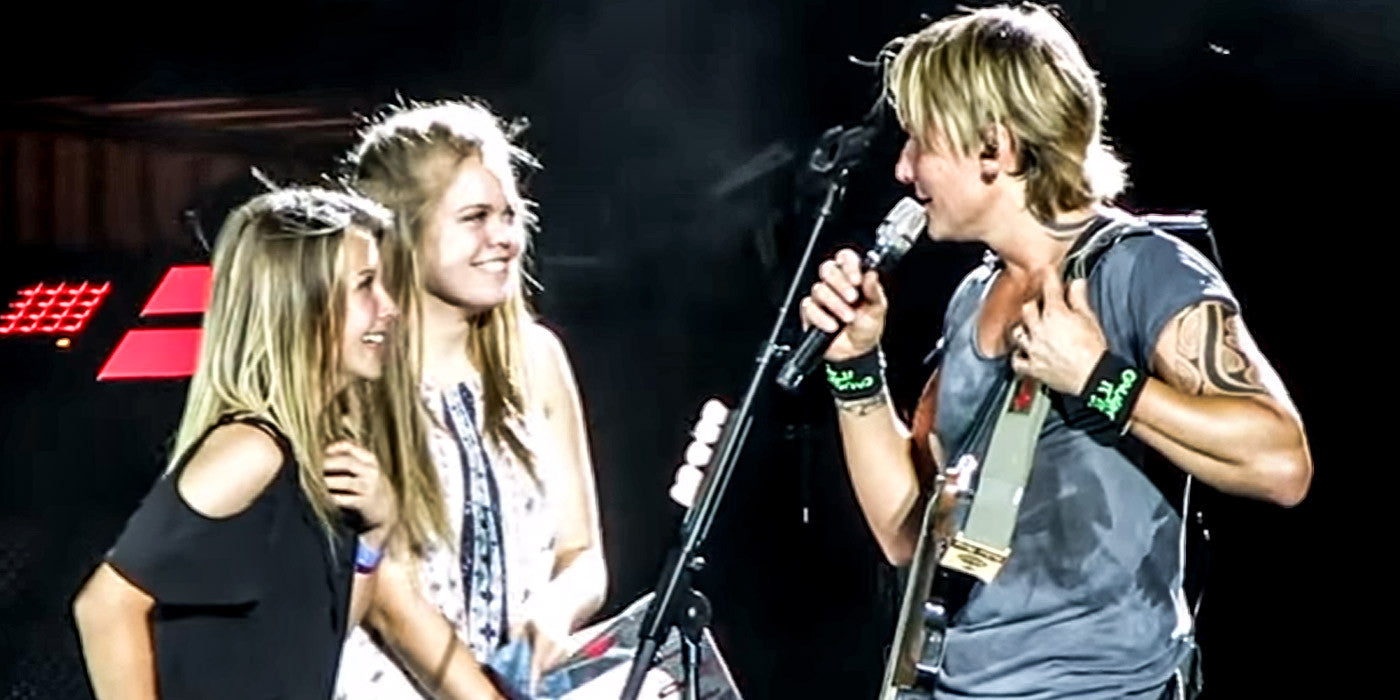 Keith Urban Invites Two Girls On Stage... What Happens Next Shocks Him!