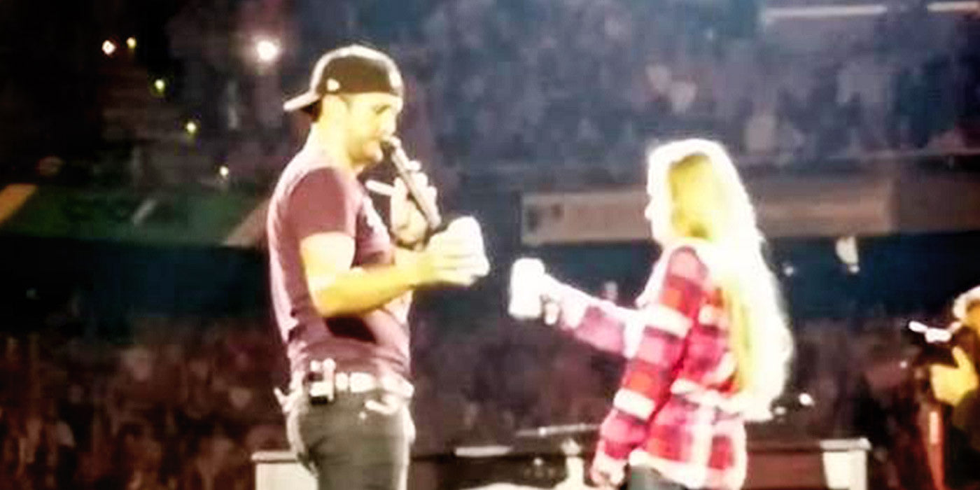 Luke Bryan Shares On-Stage Birthday Beer with 21-Year-Old Fan