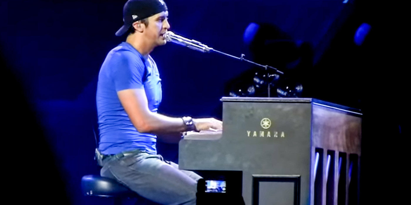 Luke Bryan Performs Adele's Hit Song On Piano