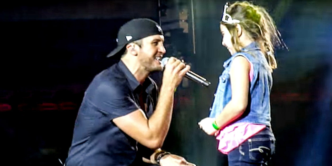 Luke Bryan's On-Stage Encounter With a Little Princess