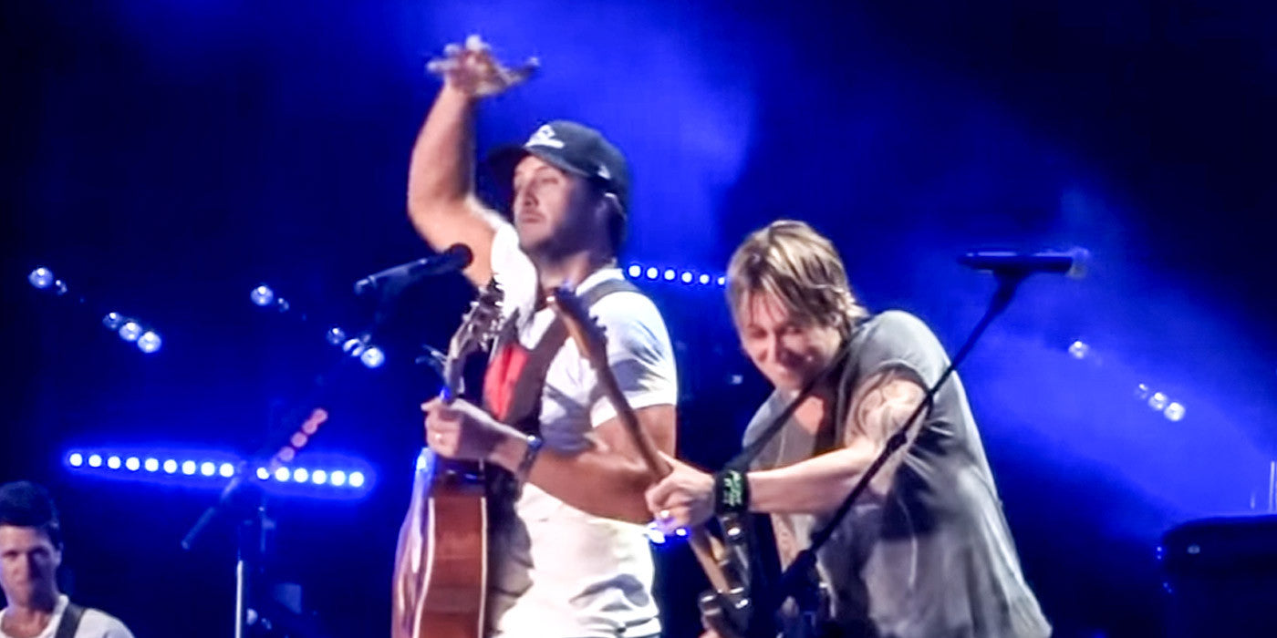 Luke Bryan vs. Keith Urban: GUITAR BATTLE!