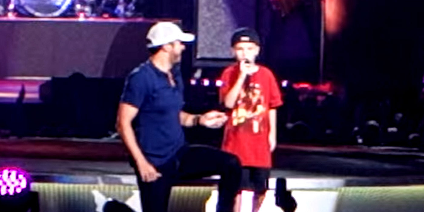 Luke Bryan Brings Little Boy on Stage and He Steals the Show!