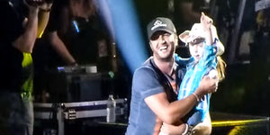 Kylee Is Brought On Stage and Amazes Luke Bryan With Her Moves!