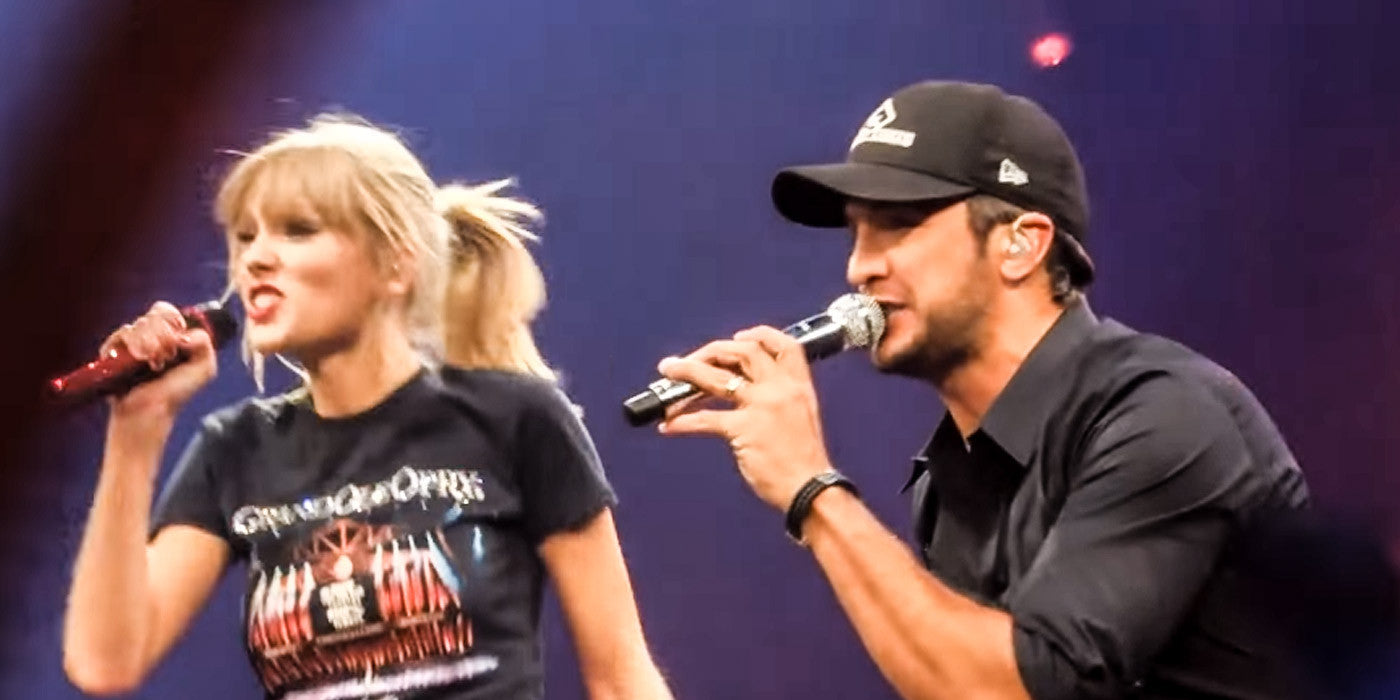 Luke Bryan Heats Up the Stage with Taylor Swift