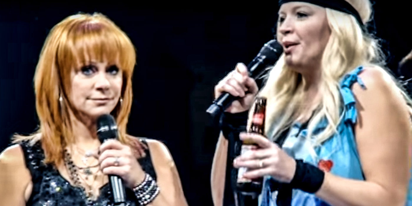 Who's That Strange Woman Crashing Reba McEntire's Concert?