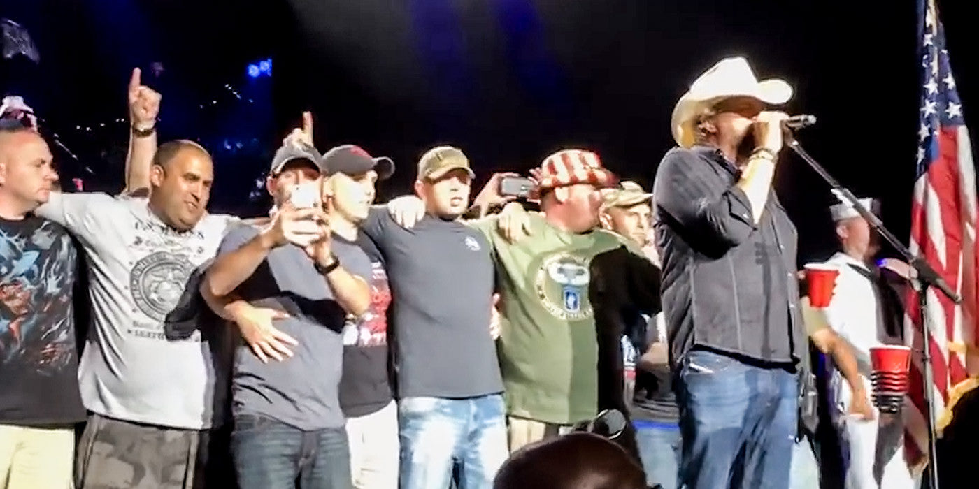 Toby Keith Gives a Heart Warming Tribute to Soldiers in New Jersey!