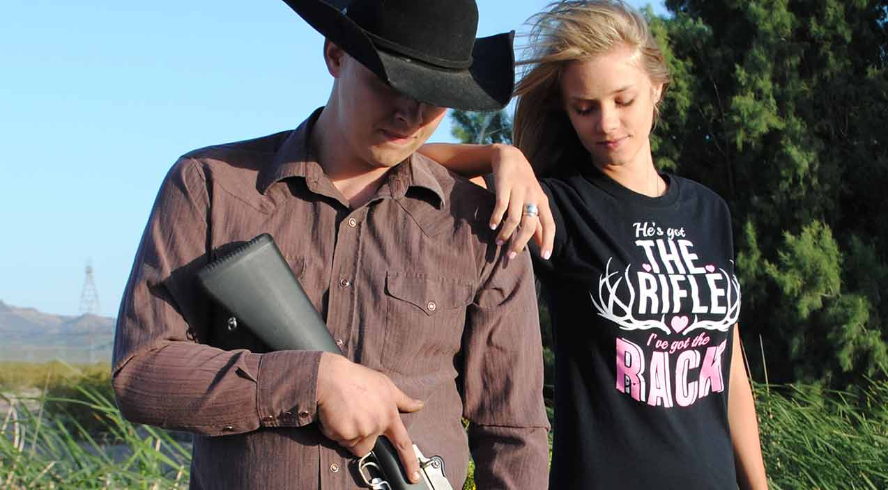 he's got the rifle i've got the rack t-shirt