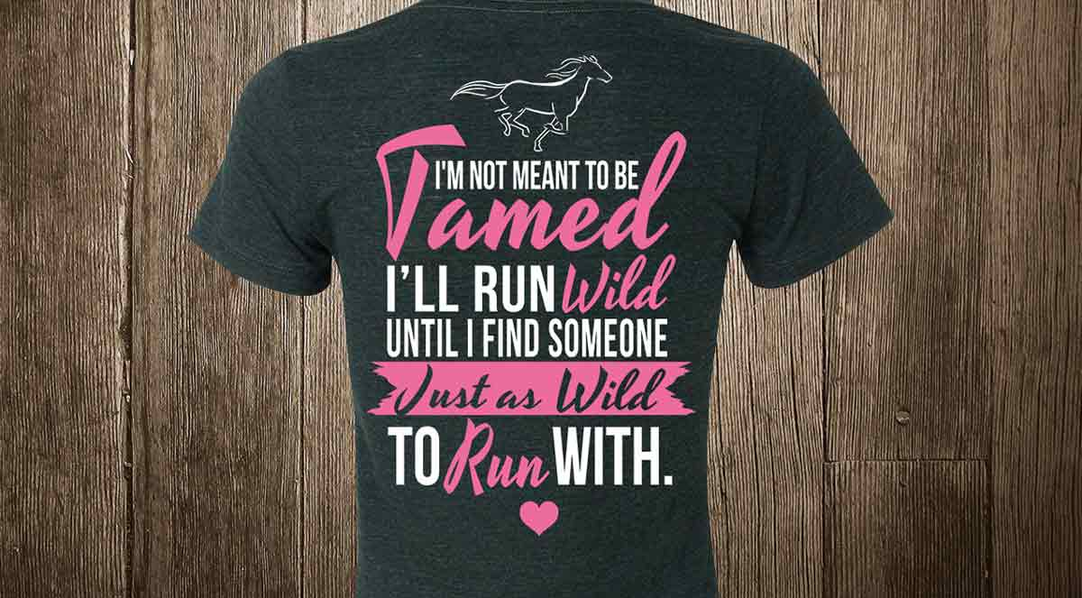 not meant to be tamed run wild v-neck