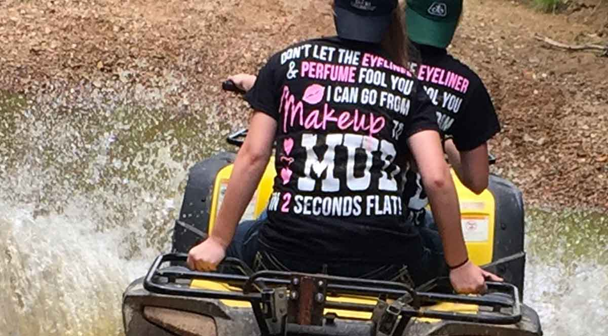 perfume and eyeliner makeup to mud in 2 seconds t-shirt