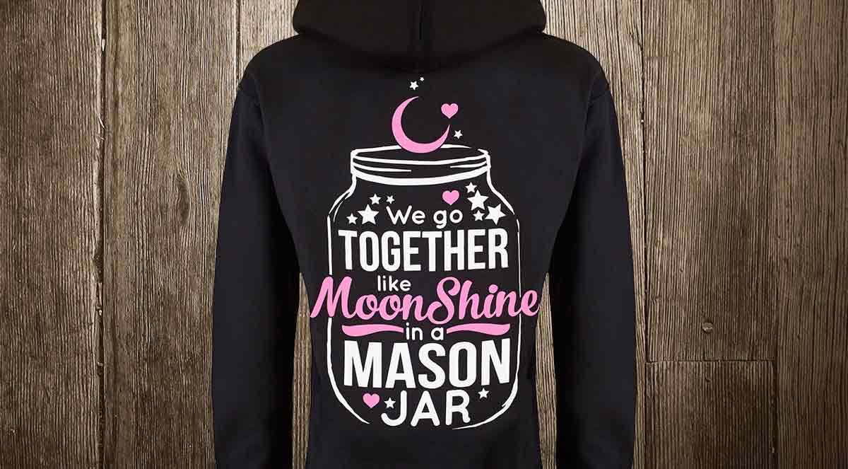 together like moonshine in a mason jar hoodie
