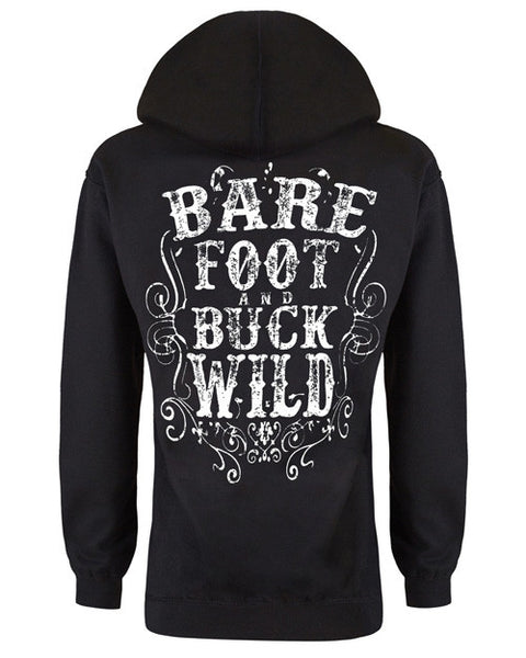 Hoodie: Barefoot and Buckwild Small / Black, Hoodies - Cute n' Country, Cute n' Country  - 1