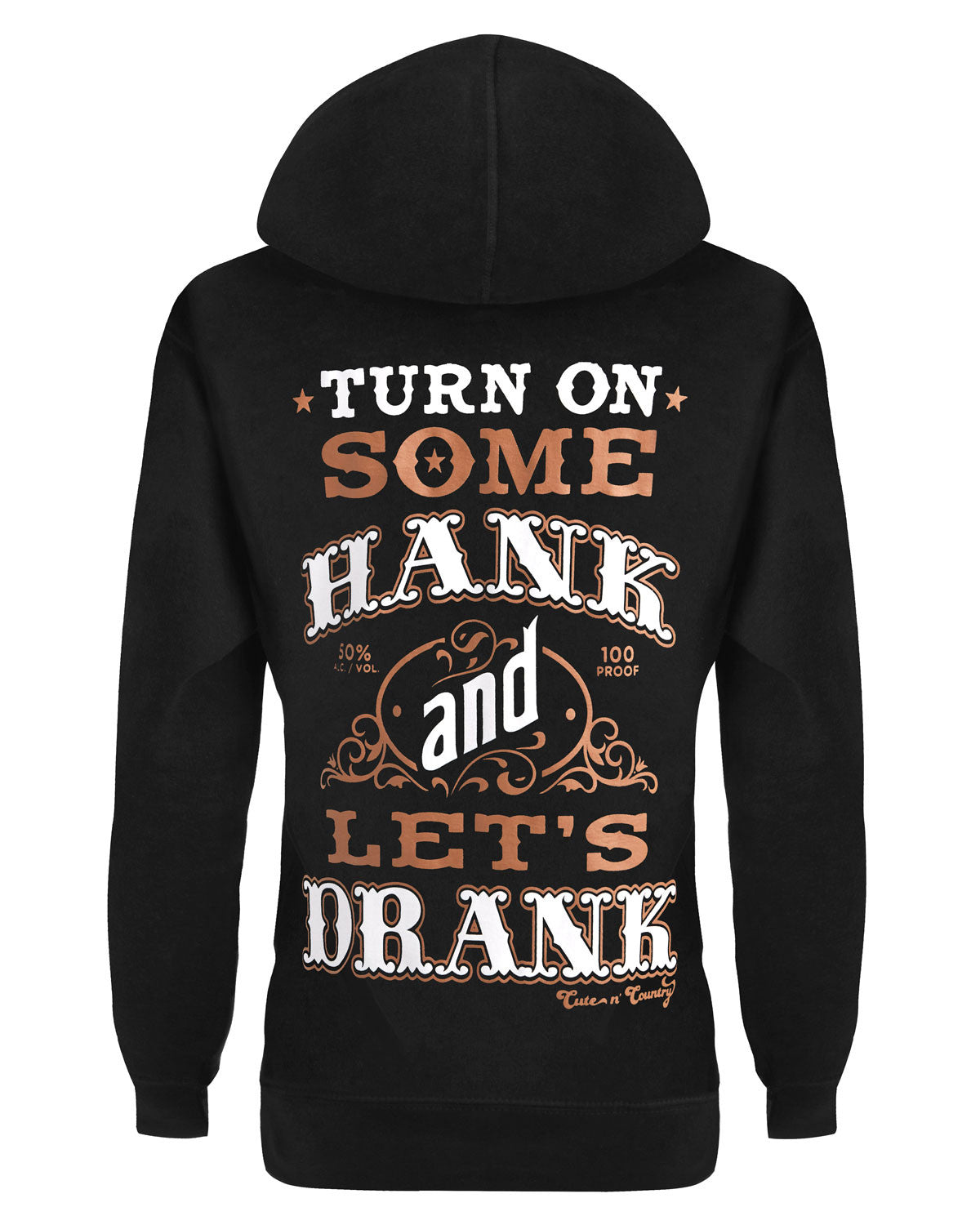 6128fde13 ... Hoodie: Turn On Some Hank and Let's Drank Small / Black, Hoodies - Cute  ...