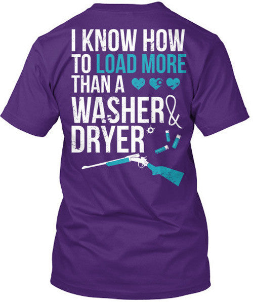 I Know How To Load More Than A Washer And Dryer T-Shirt Purple / Medium, T-Shirts - Cute n' Country, Cute n' Country  - 2