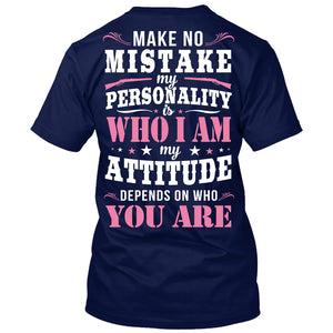Make No Mistake T-Shirt Navy / Small, T-Shirts - Cute n' Country, Cute n' Country  - 2