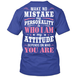 Make No Mistake T-Shirt Royal Blue / Small, T-Shirts - Cute n' Country, Cute n' Country  - 3