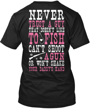 Never Trust A Guy T-Shirt Black / Small, T-Shirts - Cute n' Country, Cute n' Country  - 1