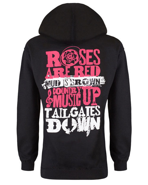 08f654bfe14ac Hoodie  Country Music Up Tailgates Down - Cute n  Country
