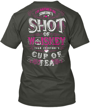 Someone's Shot Of Whiskey Than Everyone's Cup of Tea T-Shirt Charcoal Grey / Small, T-Shirts - Cute n' Country, Cute n' Country  - 2