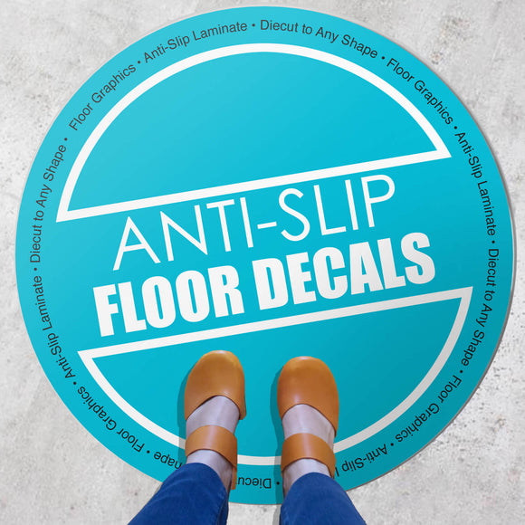 Floor Graphics w/anti-slip traction