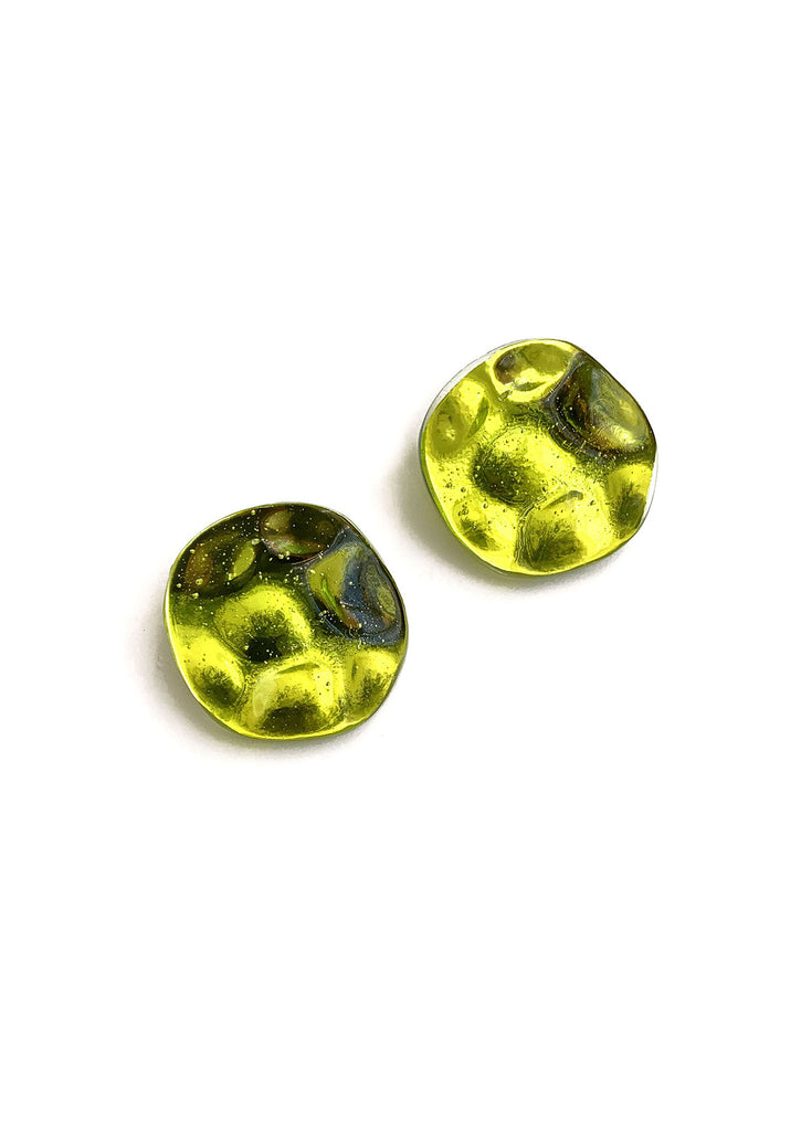 REFLECTION CHARTREUSE EARRINGS