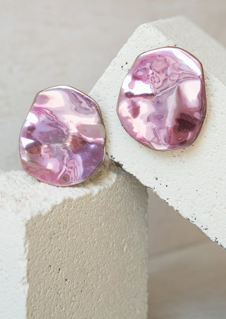 PUDDLE PINK EARRINGS