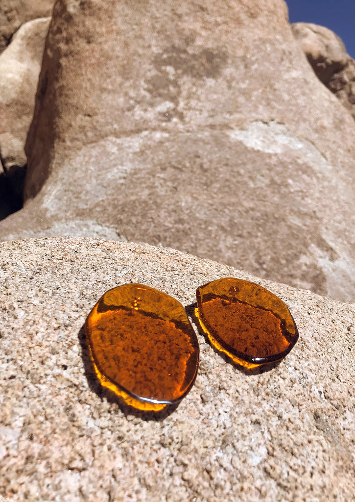REFLECTION AMBER EARRINGS