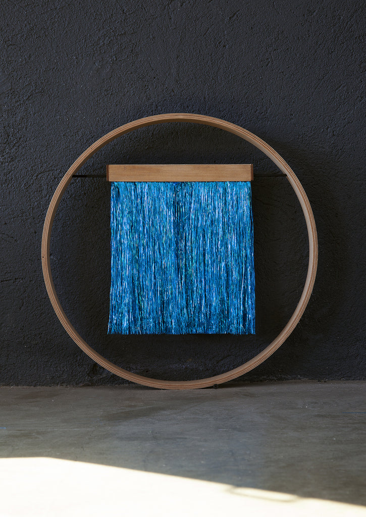 SIXZERO ELECTRIC BLUE METALLIC WALL HANGING