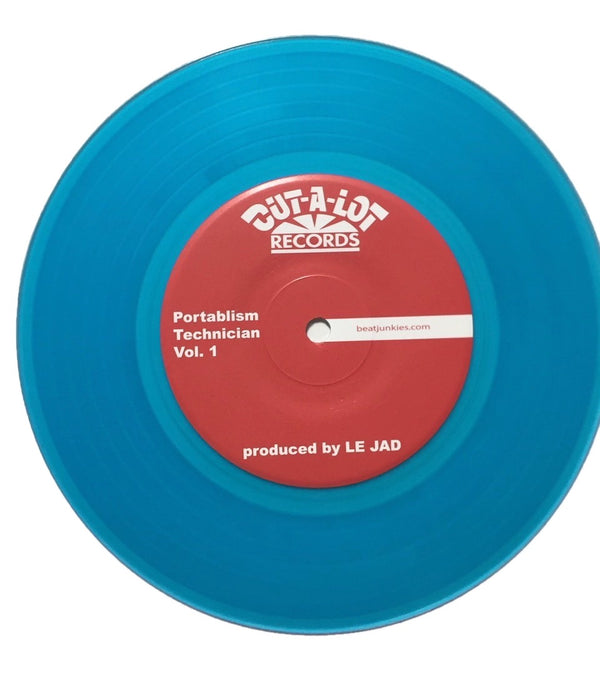"Le Jad Portablism Technician ""7 Skipless Transparent Blue Vinyl"