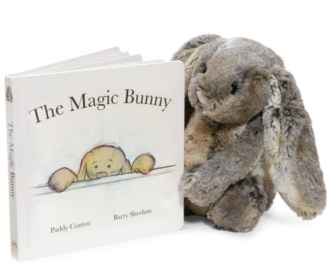"""The Magic Bunny"" Book with ""Woodland Babe Bunny"" Jellycat"