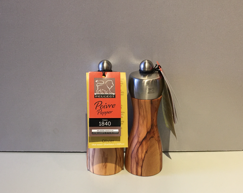 Olive Wood, Salt or Pepper Grinders From France