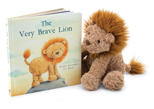 """The Very Brave Lion"" Book and Fuddlewuddle Lion"