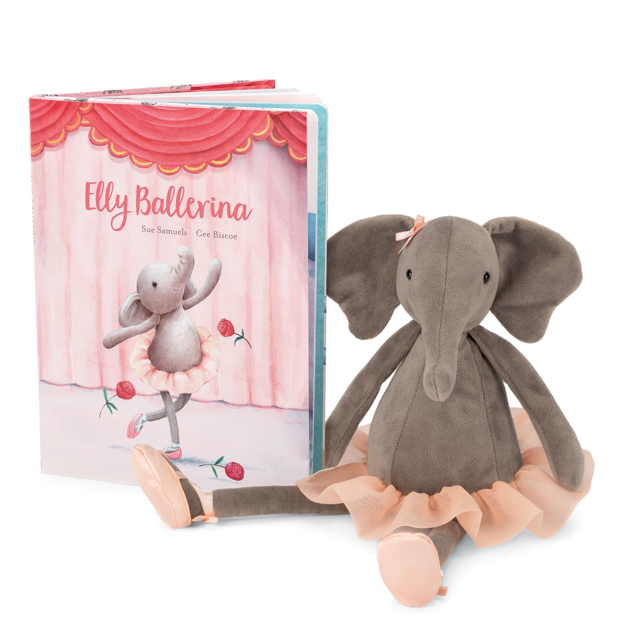"""Elly Ballerina"" Book and Ellie Elephant Stuffed Animal"