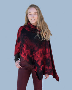 Soft Italian Poncho with Pockets