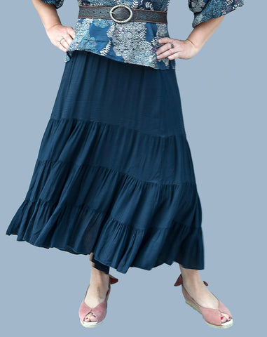 French, Three Tiered Skirt