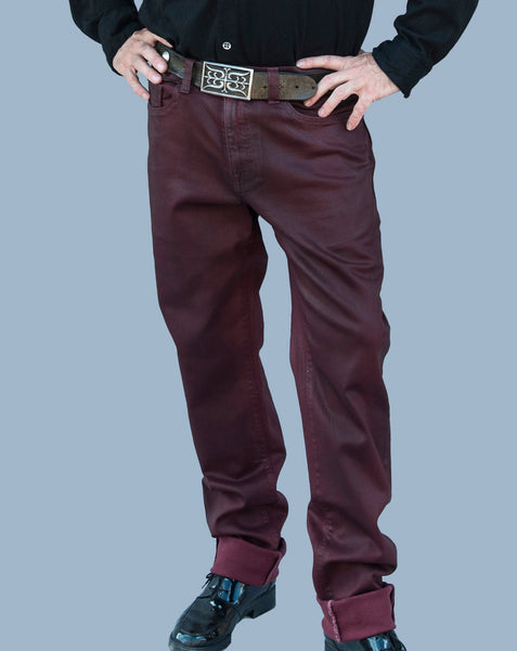 Men's Xabi Jeans in Black or Maroon