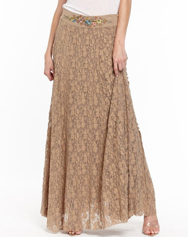 Long Southwestern Lace Skirt