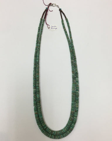 Handmade, Disk-Cut-Turquoise Necklace